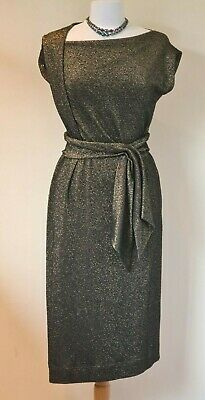 £250 • Buy Vivienne Westwood Anglomania Black And Gold Glitter Dress Size L UK 12 To 14