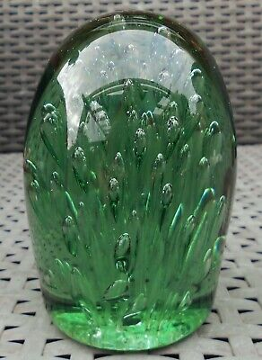 £39 • Buy Antique Victorian Green Glass Bubble Dump Heavy Paperweight