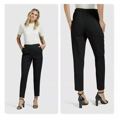 AU17.50 • Buy Forever New | Womens Black Carrie Cigarette Pants | Size 6