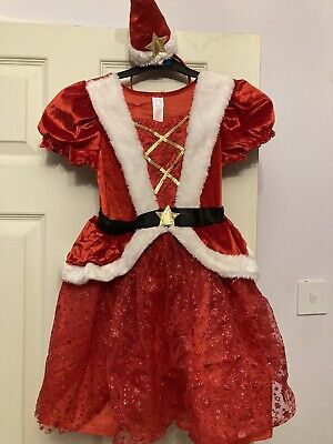 £2 • Buy Girls Mrs Santa Claus Outfit 5-6 Years