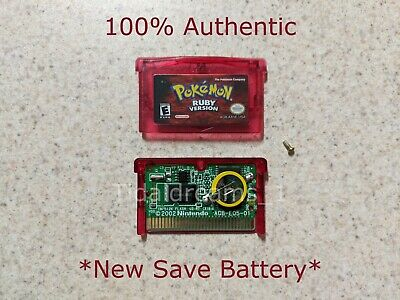 $99 • Buy Pokemon Ruby Version GBA (Game Boy Advance) AUTHENTIC *New Save Battery*