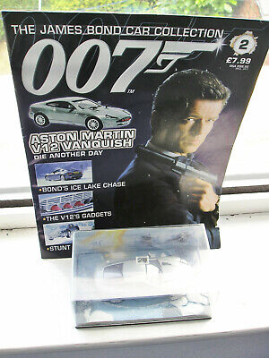 £5.99 • Buy Aston Martin V12 Vanquish Die Another Day  No2 James Bond Collection 1/43 Scale
