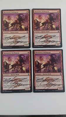 £12.99 • Buy Monastery Swiftspear-signed By Artist X4 Mtg Cards