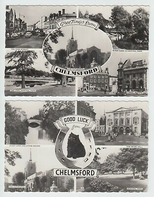 £0.99 • Buy 2 X Old RP Postcards - Greetings & Good Luck From Chelmsford Essex Circa 1960