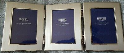 £6 • Buy Shudehill Silver Metal Triple Photo Folding Picture Frame. To Fit 2  X 3  (X3)
