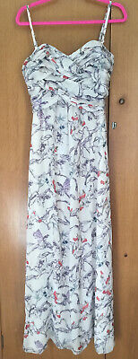 £15 • Buy Ted Baker Fairy Floral Print Sweetheart Pleated Neckline Lined Maxi Dress Size 3
