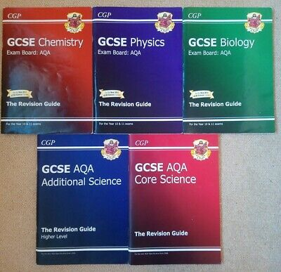 £3.45 • Buy GCSE CGP AQA Science Study Text Revision Guides, Biology, Physics And Chemistry