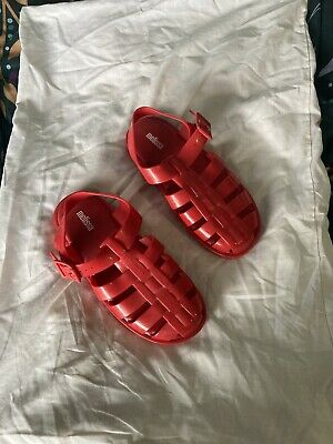 £2 • Buy Melissa Red Cage Sandals Size 4