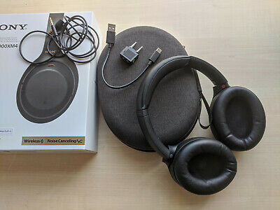 £120 • Buy Sony WH-1000XM4 Black Wireless Noise Cancelling Headphones; Used, Good Condition