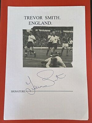 £9.99 • Buy Trevor Smith- England Footballer Signed Picture