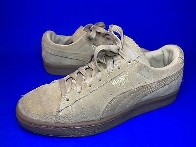 AU18.79 • Buy Puma Suede Trainers Beige Gold Gum Sole Size 4 Uk Great Condition