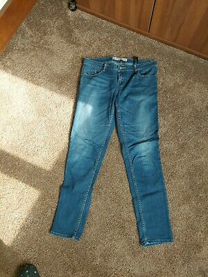 £3 • Buy Next Ladies Blue Jeans Relaxed Mid Rise Skinny UK14L