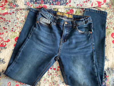 £2.50 • Buy Skinny Boys Jeans Aged 10-11 With Adjustable Waist