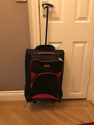 £15.70 • Buy Pink In Travel Luggage Cabin Bag Trolly Wheels Hand  Flight Bags Suit Case