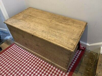 £60 • Buy Lovely Vintage Pine Chest, Wooden Trunk, Coffee Table