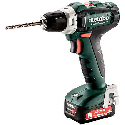 £89 • Buy Metabo Powermaxx BS12 12V Drill/Driver With 2x 2.0Ah Batteries In Case