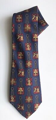 £29.09 • Buy Chanel Tie, Royal Castle Motif On A Navy Ground, 3-3/4  Width, Exc Cond