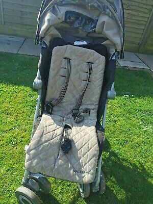 £50 • Buy MacLaren Techno XLR Buggy Pushchair Stroller In Black / Champagne With Raincover