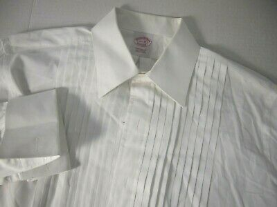 £25.43 • Buy Brooks Brothers Mens Dress Shirt 15 1/2 32 Tuxedo Pleated White French Cuff