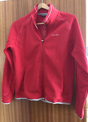 £9 • Buy Craghoppers Womens Red Outdoor Windproof Jacket With Fleece Lining Size 14