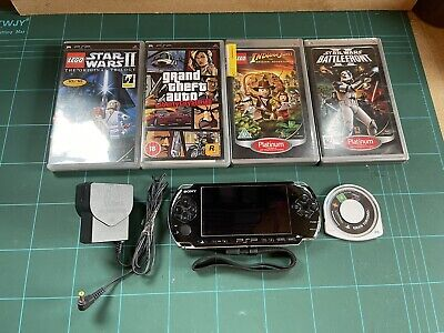 £49.99 • Buy Sony Black PSP Console 3003 With Games And Charger (see Description)