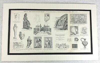 £44 • Buy 1897 Antique Print Ancient Egyptian Ramses Pharaoh Archaeology Architecture