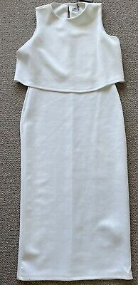 AU25 • Buy NEW Stunning White Dress Size 12. Fitted But With Stretch