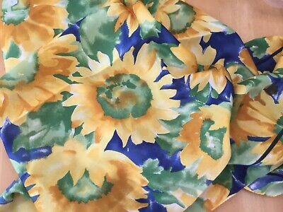 £0.99 • Buy Tie Rack Square Yellow Sunflowers Print Scarf Silky Material