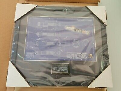 £120 • Buy Star Wars Master Replicas Blueprint Framed Collection No 602/5000 Brand New