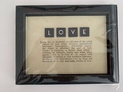 £14.99 • Buy East Of India Tile Scrabble Love Framed Picture Sign