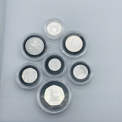 £99.50 • Buy 2006 Royal Mint Silver Proof 7 Coin Set From 1p To £1 Encapsulated Some Toning