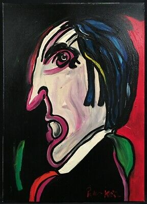 £25 • Buy Contemporary German Expressionist School Oil On Canvas Portrait Painting. Signed