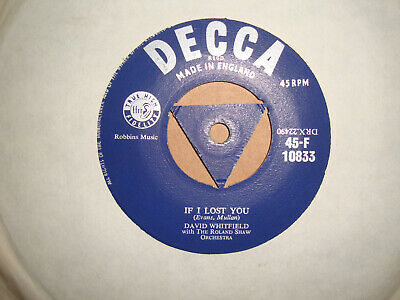 £2.49 • Buy David Whitfield,  If I Lost You,  Decca Records 1956 Ex