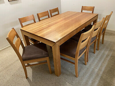 AU155 • Buy Solid Timber Dining Table And 8 Chairs