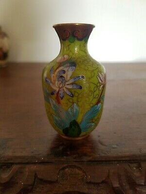 £10 • Buy Vintage Chinese Small Cloisonne Vase