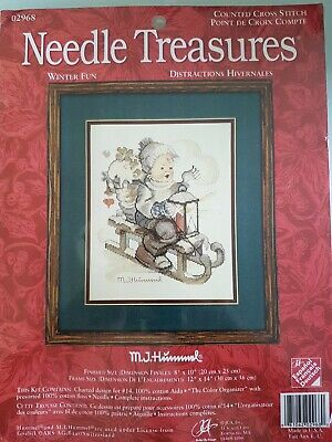 £16.50 • Buy New, Unopened Needle Treasures Counted Cross Stitch Kit 'winter Fun' From Hummel