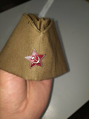 £9.90 • Buy Collectable Vintage Soviet Army Hat Pilotka Ussr Russia