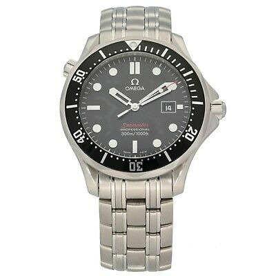 £2300 • Buy Omega Seamaster Stainless Steel 42mm Case Black Dial With A 20cm Strap