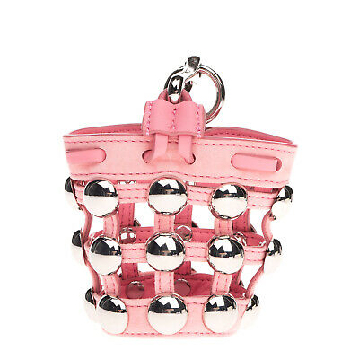 AU39.52 • Buy RRP €505 ALEXANDER WANG ROXY Leather Cage Bucket Bag Charm HANDCRAFTED Studded