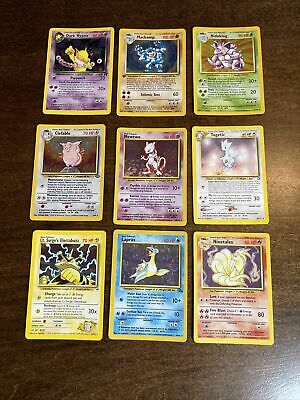 $15.50 • Buy 9 Holo Rare Pokemon Cards WOTC Played Condition Collection Lot Base 1st Edition
