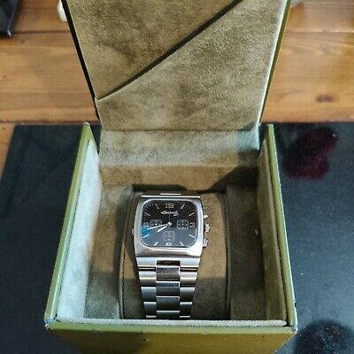 £120 • Buy Mens Very Rare Ingersoll Duo Reverso Reversible Chronograph Dual Face Watch