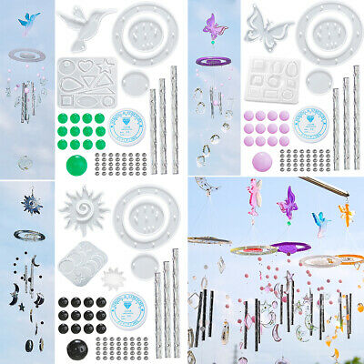 £6.69 • Buy Silicone Resin Casting Mold Hummingb Pendant Wind Chimes Making Kit Epoxy Mould