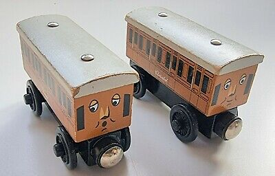 £12.95 • Buy Annie & Clarabel Learning Curve Wooden Train Engine (Brio Thomas The Tank)