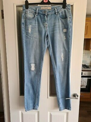 £6 • Buy Next Ladies Light Blue Relaxed Skinny Jeans Size 10 Long