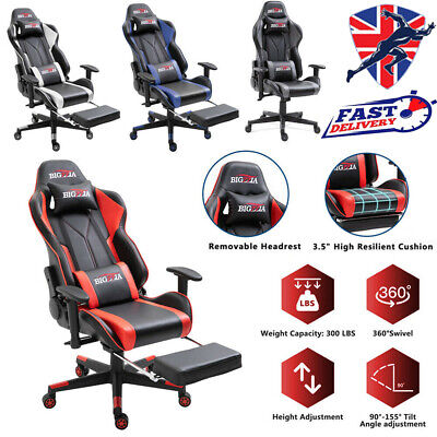 £48.99 • Buy Swivel Racing Gaming Chairs Office Executive Recliner PC Computer Desk Chai