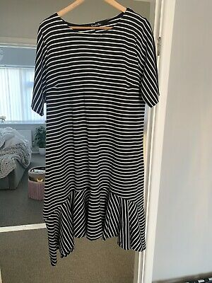 £2.70 • Buy Simply Be Striped Dress Size 24