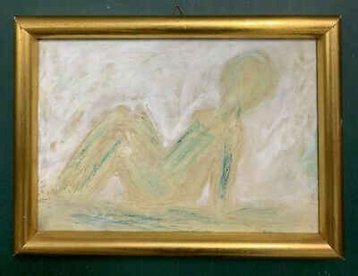 £0.99 • Buy French Mid Century Modernist Expressiont Oil On Board Painting