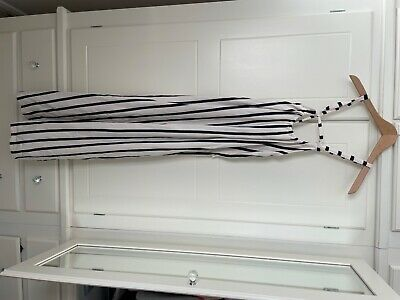 £10 • Buy Zara Blue And White Stripped Dress, Low Cleavage