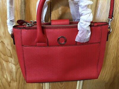 AU195 • Buy OROTON Worker Tote  Hand Bag Saffiano Leather Bright Red NWT Dustbag