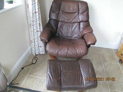 £139.99 • Buy Ekornes Stressless Chair Large And Foot Stool, Cash On Collection
